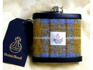 Harris Tweed Hip Flasks