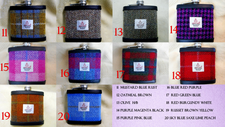 Harris-tweed-choice-of-more-colours-for-hip-flasks