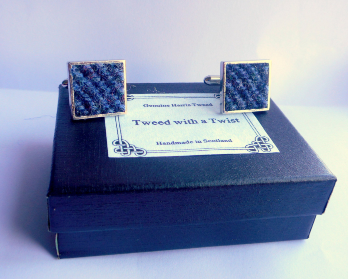 Harris-tweed-cufflinks-in-box-boxed-gift-for-men