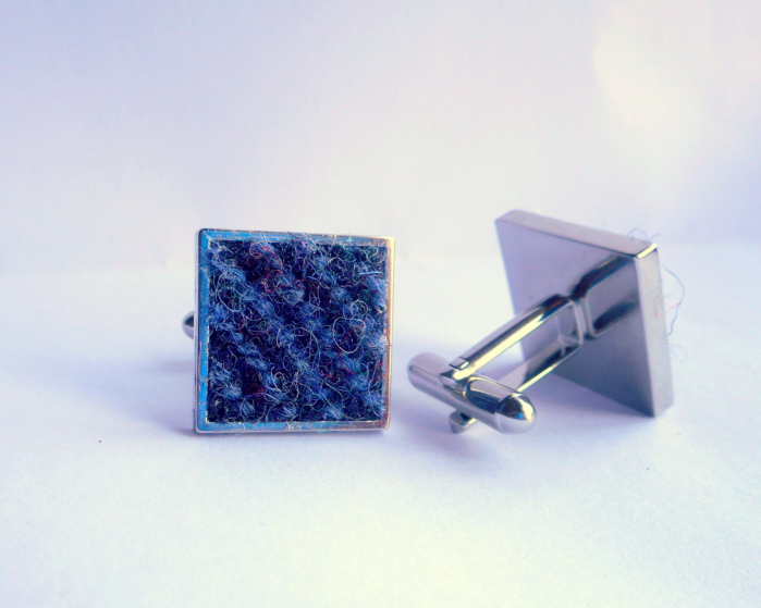 harris-tweed-cufflinks-gift-for-men-best-man-wedding-blue