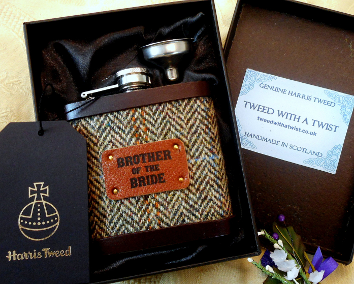 Brother-of-the-bride-gift-in-presentation-box-Tweed-with -a-twist-of-Scotland