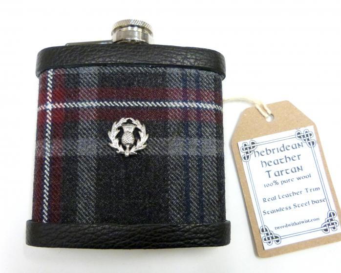 Tartan hip flask-thistle-gift for men-best man gift-groomsmens gifts-christmas-