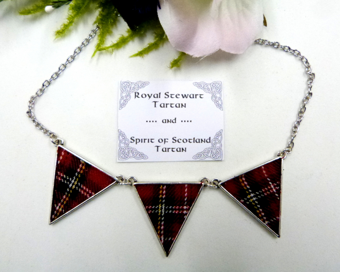 royal stewart tartan-spirit of scotland tartan-tartan necklace-jewellery