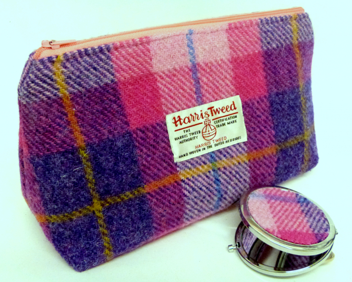Harris-Tweed-pink-cosmetic-bag