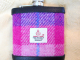 Purple-pink-harris-tweed-hip-flask-gift-for-her