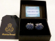 Harris Tweed-cufflinks-blue-herringbone-gift box-gift for him-groomsmen-Best man