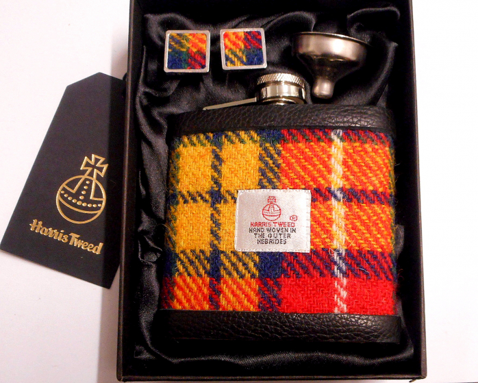 Buchanan Tartan Harris Tweed gift set