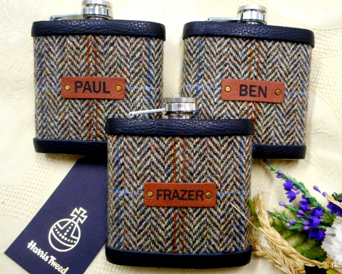 Autumn Harvest Harris Tweed Flasks
