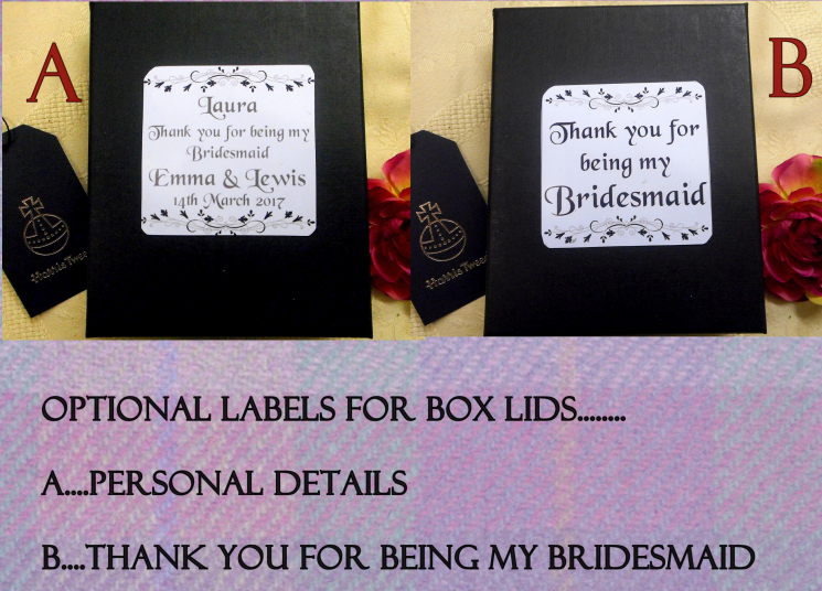 Personalsied labels for the bridesmaids