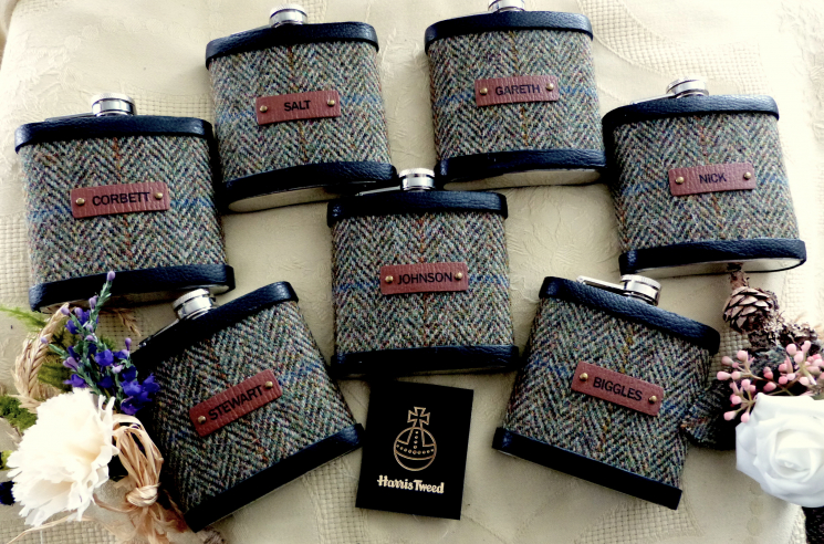 Set of 7 flasks with names