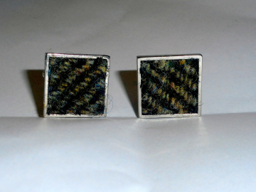 Harris Tweed cuff links mens Scottish made in Scotland clothing accessories cuff links fathers day gift for him herringbone groomsman