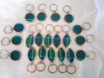 Clan Tartan Golf and Rugby keyrings