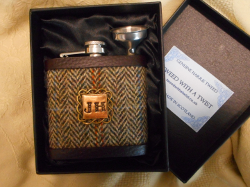 Gold Initialled flask
