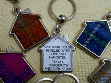 Harris Tweed key fob, ideal housewarming gift or Wedding  made in Scotland small gift for leaving present, new home, neighbour