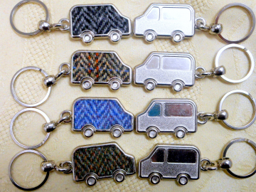 Harris Tweed key fob, keyring Car van or SUV  ideal small gift or Wedding favour  made in Scotland