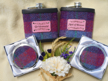Bridesmaids set of gifts in Harris Tweed