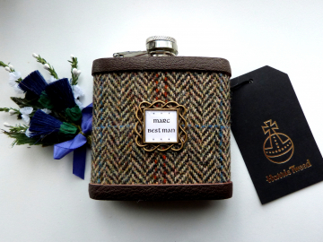 Best Man flask with celtic setting