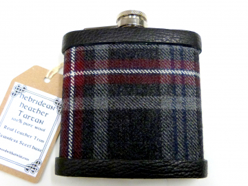Tartan hip flask Hebridean Heather  Scottish gift for men made in scotland retirement,  best man, groomsman , or Christmas present