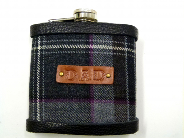"Tartan flask for ""DAD"""