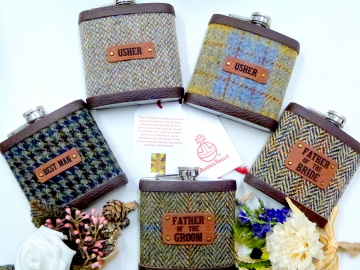 Harris Tweed Groomsmen's gifts, set of five