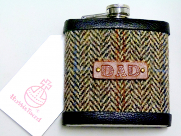 Harris Tweed flask for DAD