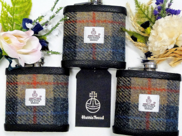 A favourite Harris Tweed  pattern for this set of three flasks